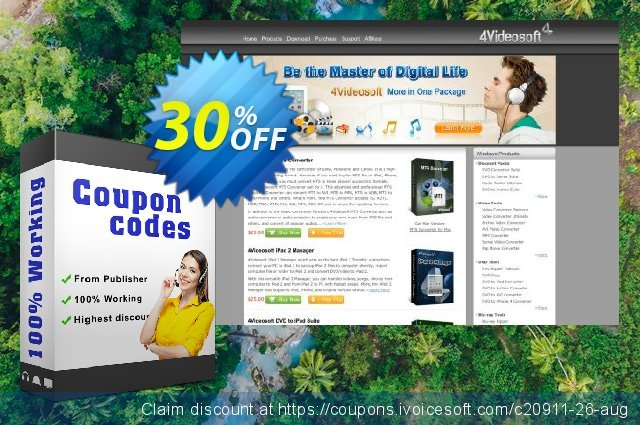 4Videosoft MP4 Converter discount 30% OFF, 2021 New Year's Day offering discount