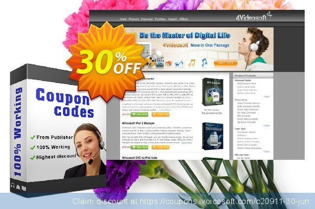 4Videosoft MPEG Converter discount 30% OFF, 2021 New Year's Weekend promo
