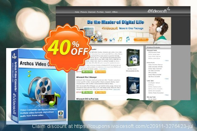 4Videosoft Archos Video Converter discount 40% OFF, 2021 New Year's Day promotions