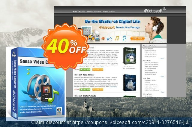4Videosoft Sansa Video Converter discount 40% OFF, 2020 New Year's Day offering sales