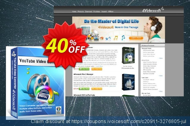4Videosoft YouTube Video Converter 대단하다  매상  스크린 샷