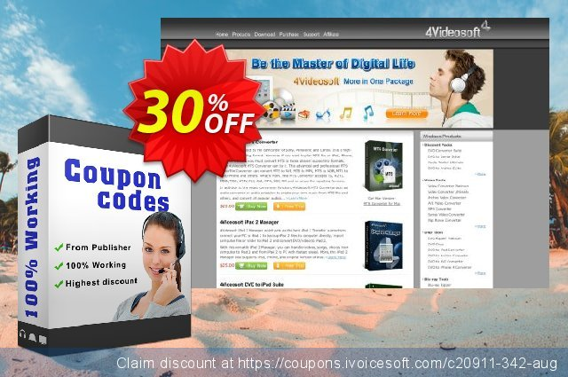4Videosoft MP4 to DVD Converter discount 30% OFF, 2021 January discounts