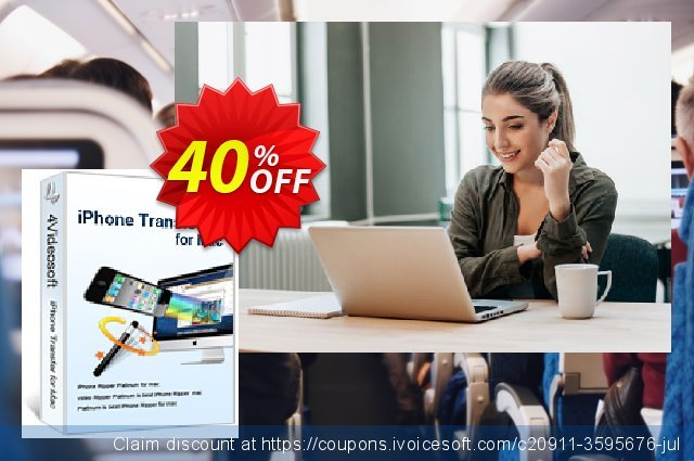 4Videosoft iPhone Transfer for Mac discount 40% OFF, 2021 New Year's Weekend offering sales