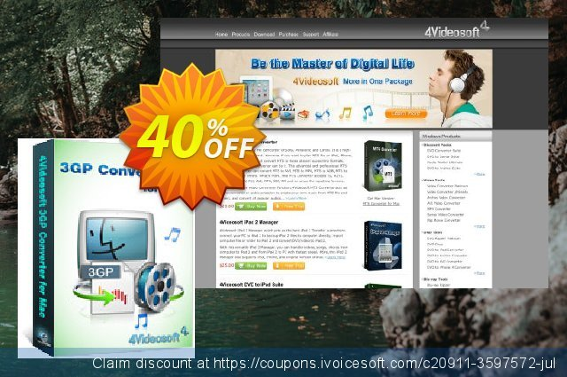 4Videosoft 3GP Converter for Mac discount 40% OFF, 2021 Happy New Year offering sales