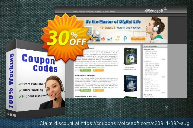 4Videosoft iOS Data Recovery for Mac discount 30% OFF, 2021 Happy New Year offering sales