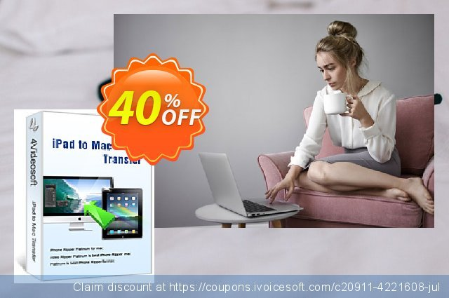 4Videosoft iPad to Mac Transfer discount 40% OFF, 2021 Happy New Year offering sales