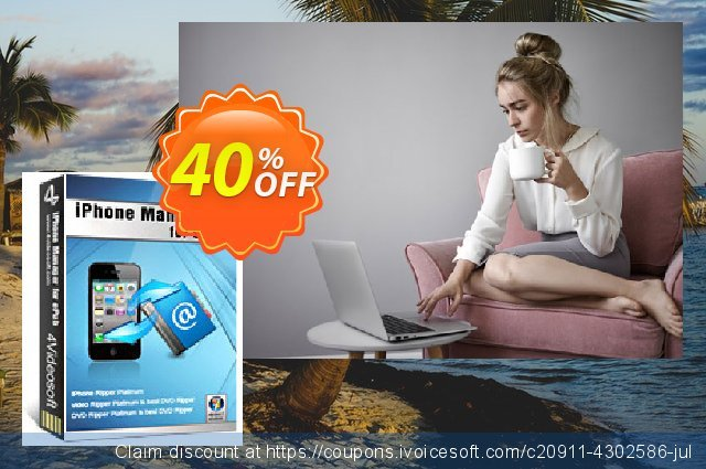 4Videosoft iPhone Manager for ePub discount 40% OFF, 2021 Spring offering sales