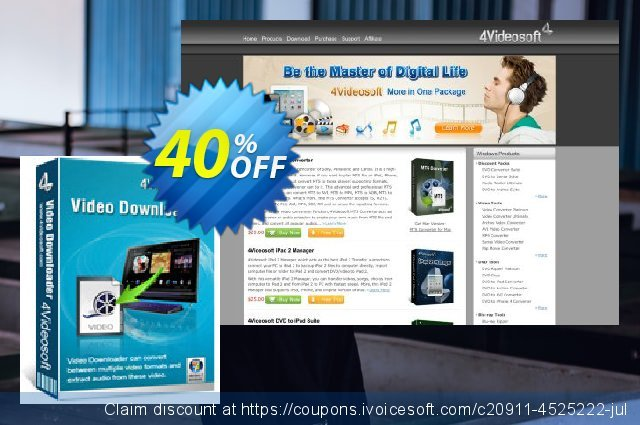 4Videosoft Video Downloader discount 40% OFF, 2020 Christmas & New Year offering sales