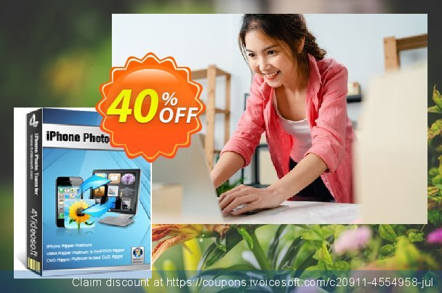 4Videosoft iPhone Photo Transfer discount 40% OFF, 2021 New Year offering sales