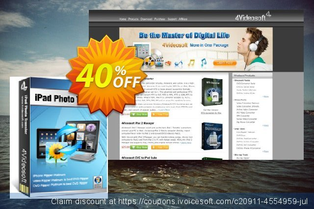 4Videosoft iPad Photo Transfer discount 40% OFF, 2020 Thanksgiving Day offering sales