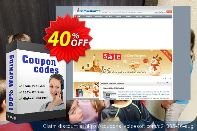 iMacsoft FLV Converter discount 40% OFF, 2020 New Year's Day offering sales