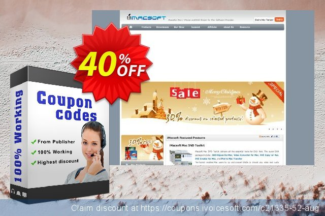 iMacsoft VOB to MP4 Converter discount 40% OFF, 2020 Back-to-School promotions offering sales