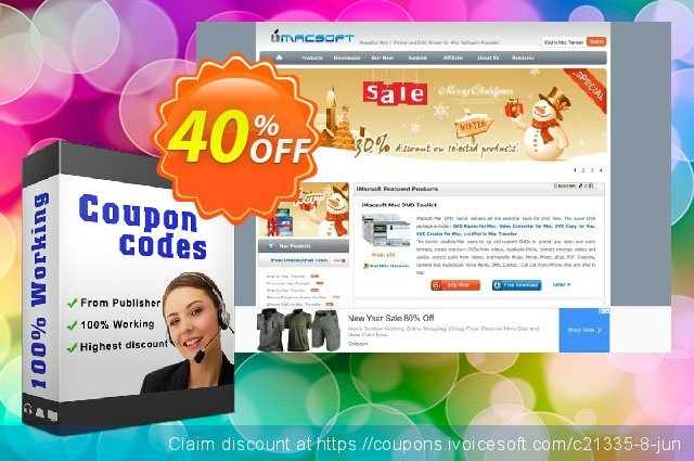 iMacsoft Video Converter for Mac discount 40% OFF, 2020 Back to School offer offering sales