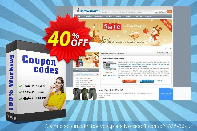iMacsoft VOB to iPad Suite for Mac discount 40% OFF, 2020 College Student deals promo sales
