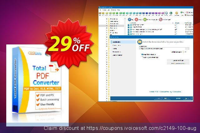 Coolutils Total PDF Converter (Commercial License) 대단하다  매상  스크린 샷