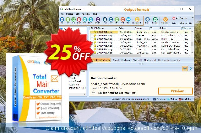 Coolutils Total Mail Converter (Commercial License)  멋있어요   세일  스크린 샷