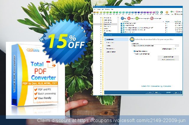 Coolutils Total PDF Converter (Server License)  놀라운   프로모션  스크린 샷
