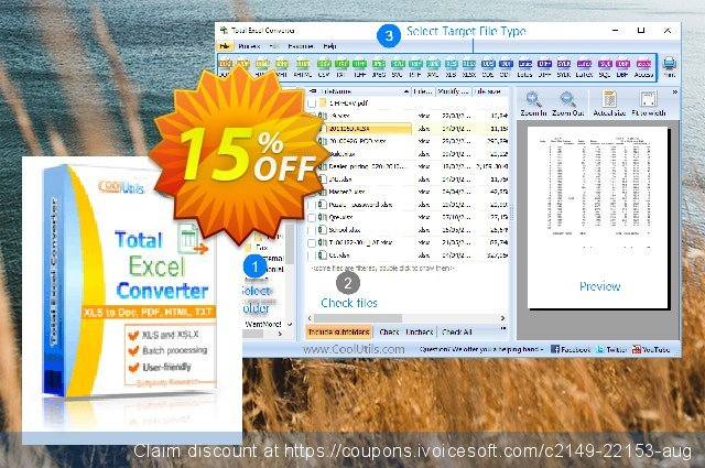 Coolutils Total Excel Converter (Site License) discount 15% OFF, 2020 University Student offer offering sales