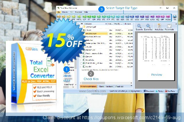 Coolutils Total Excel Converter discount 15% OFF, 2020 Father's Day offering deals