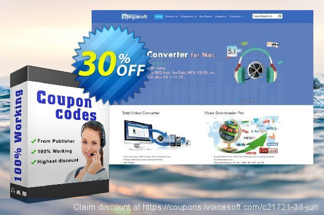 Bigasoft PSP Video Converter for Mac  대단하   세일  스크린 샷