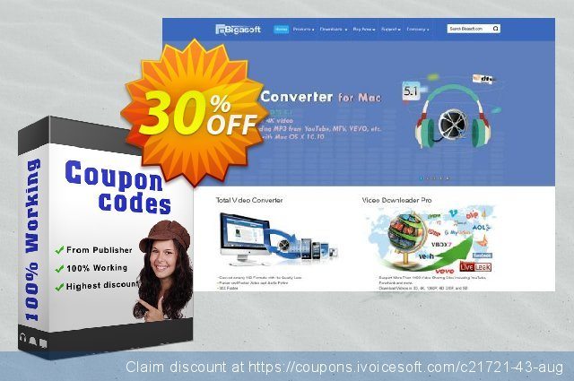 Bigasoft BlackBerry Video Converter for Mac discount 30% OFF, 2019 Thanksgiving offering sales