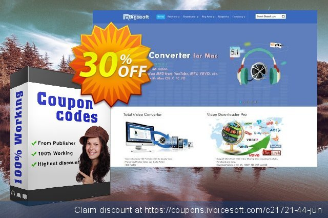 Bigasoft FLV Converter for Mac discount 30% OFF, 2019 Thanksgiving Day offering sales