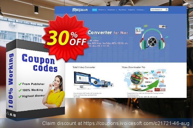 Bigasoft VOB to iPad Converter for Mac OS discount 30% OFF, 2019 Thanksgiving promotions