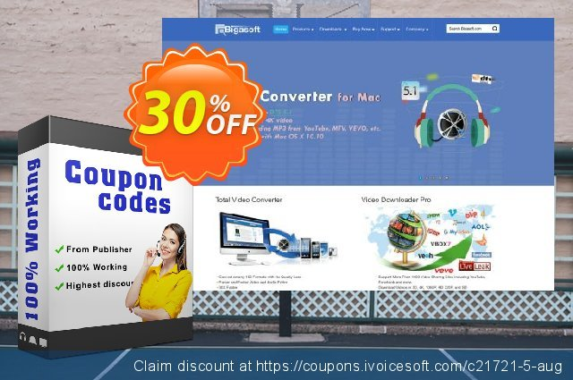 Bigasoft iPhone Video Converter discount 30% OFF, 2019 New Year's Day discounts