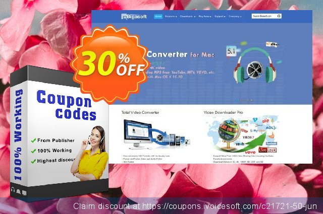 Bigasoft VOB to iMovie Converter for Mac OS discount 30% OFF, 2020 American Independence Day promotions