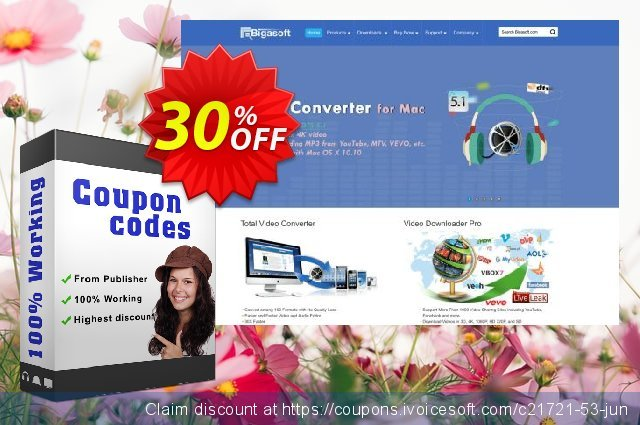 Bigasoft QuickTime Converter for Mac discount 30% OFF, 2020 Easter day promotions