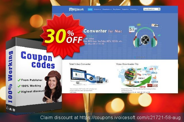 Bigasoft AVI Converter for Mac  위대하   촉진  스크린 샷