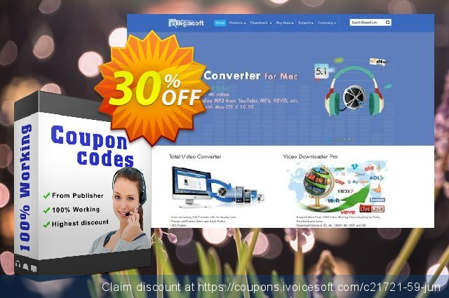 Bigasoft MP4 Converter for Mac discount 30% OFF, 2020 Exclusive Student discount offering sales