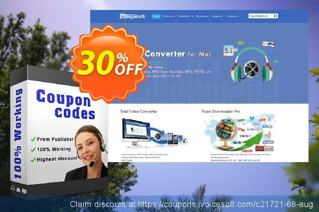 Bigasoft RealPlayer Converter for Mac discount 30% OFF, 2020 Working Day offering sales