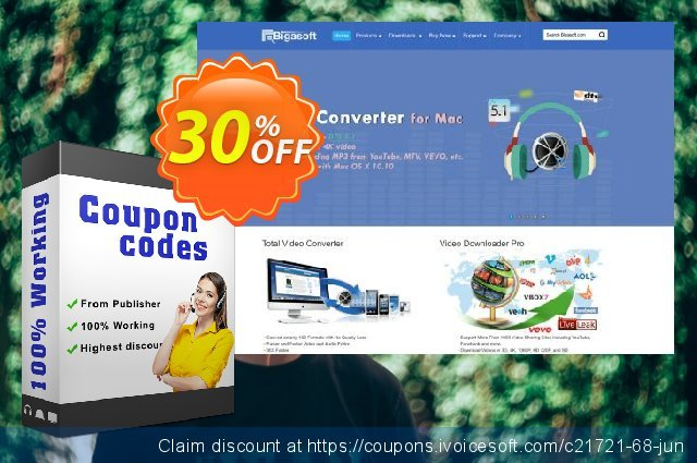 Bigasoft RealPlayer Converter for Mac  경이로운   할인  스크린 샷