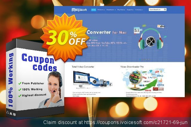 Bigasoft M4A Converter for Mac discount 30% OFF, 2020 July 4th promotions