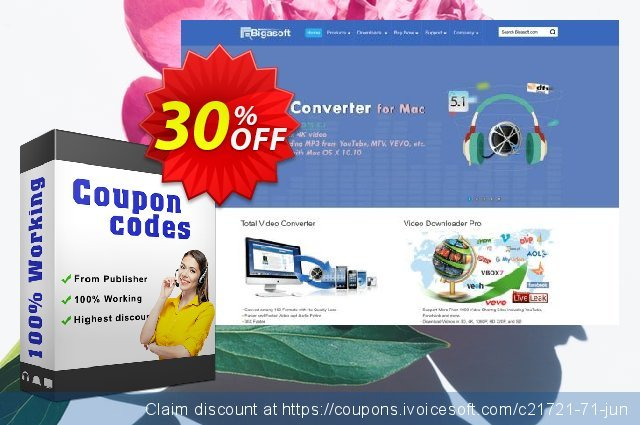 Bigasoft WTV Converter for Mac discount 30% OFF, 2020 Labour Day promotions