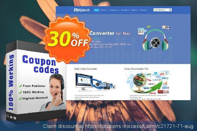Bigasoft WTV Converter for Mac discount 30% OFF, 2019 Thanksgiving Day offering sales