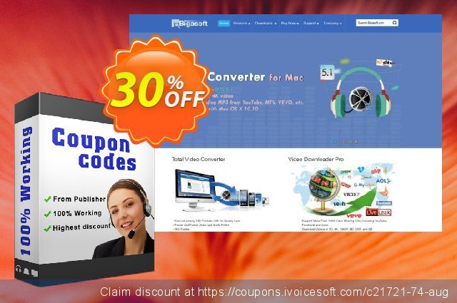 Bigasoft FLAC Converter for Mac discount 30% OFF, 2020 Resurrection Sunday deals
