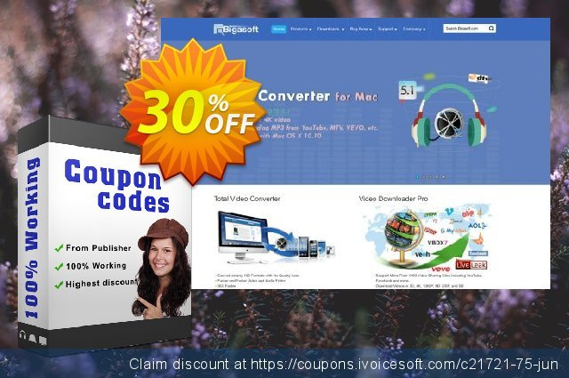 Bigasoft VOB to iPhone Converter for Mac OS  경이로운   세일  스크린 샷