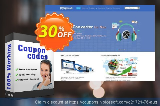 Bigasoft AVI to MP4 Converter for Mac  대단하   제공  스크린 샷