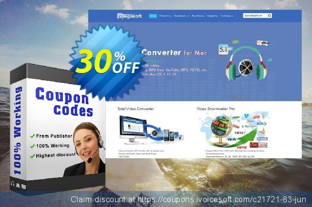 Bigasoft Video Downloader Pro for Mac OS  최고의   프로모션  스크린 샷