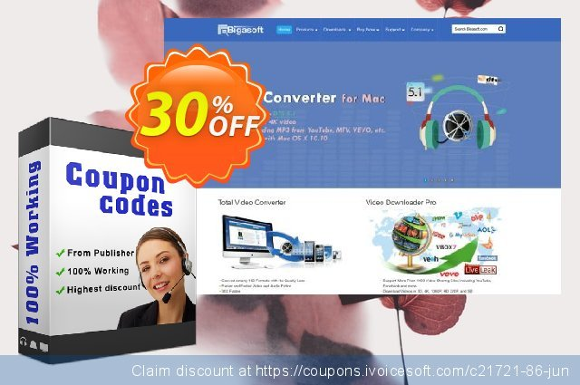 Bigasoft VOB Converter for Mac discount 30% OFF, 2019 Thanksgiving Day deals