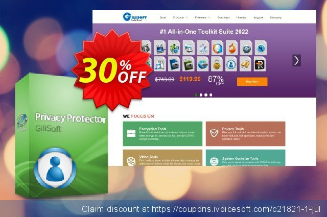 GiliSoft Privacy Protector discount 30% OFF, 2019 Thanksgiving Day offering sales