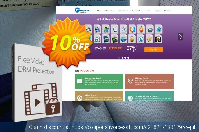 GiliSoft Video DRM Protection discount 10% OFF, 2019 Thanksgiving Day offering sales