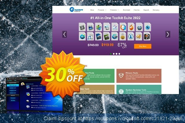 Gilisoft USB Lock Lifetime discount 30% OFF, 2020 July 4th discount