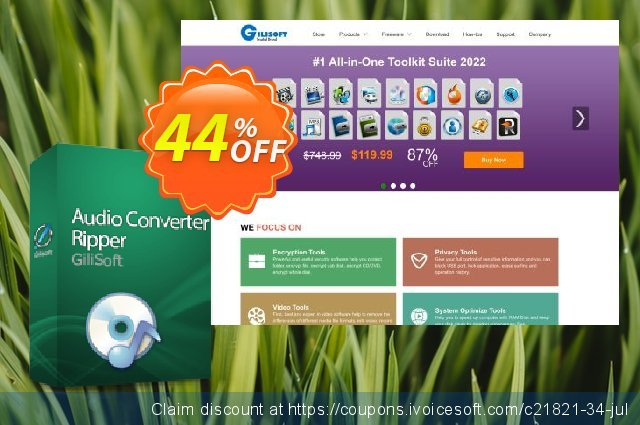 Audio Converter Ripper discount 44% OFF, 2020 July 4th promo