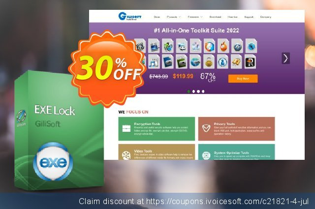GiliSoft Exe Lock discount 30% OFF, 2020 July 4th offering discount