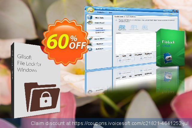 GiliSoft File Lock - 3 PC / Lifetime discount 30% OFF, 2020 New Year's Weekend offering sales