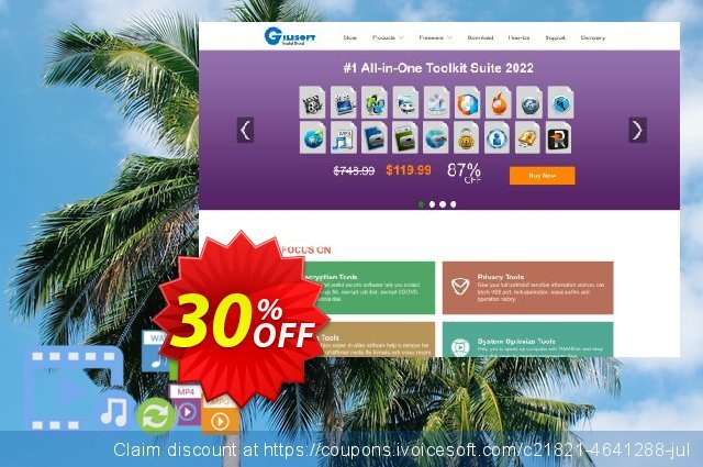 Gilisoft Video Editor - 3 PC / Lifetime discount 30% OFF, 2020 Spring promo sales