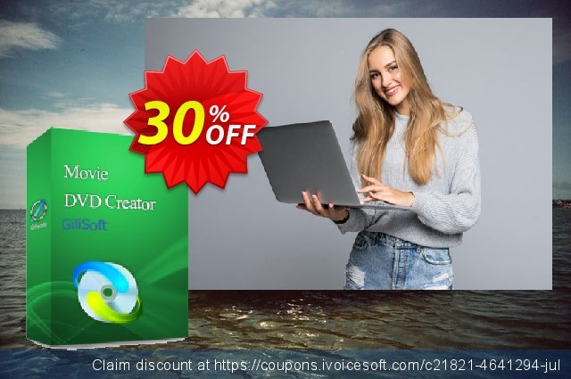 GiliSoft Movie DVD Creator 3PC/Lifetime discount 30% OFF, 2020 Back to School season offer